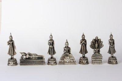 Geburtstag Buddha silberne Farbe - ohne Kerze